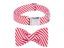 Candy Cane Dog Collar & Leash Set
