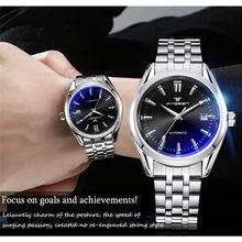 New Fashion Blue Light Automatic Mechanical Wwatches Business Men Luxury