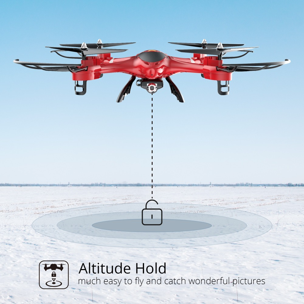 Holy Stone HS200 Red RC Drone con cámara FPV HD Wifi en vivo con - Juguetes con control remoto - foto 4