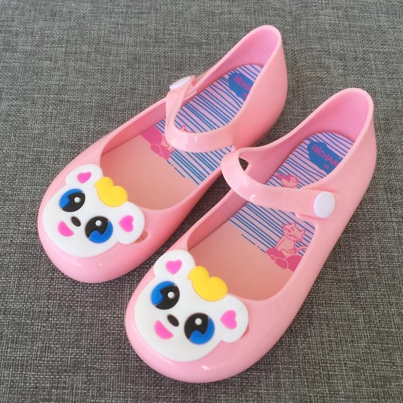 Childrens Baotou Cartoon Panda Princess Fragrant Single Anti-skid Jelly Shoes Melissa Sandals Girls Eur 24 - 29