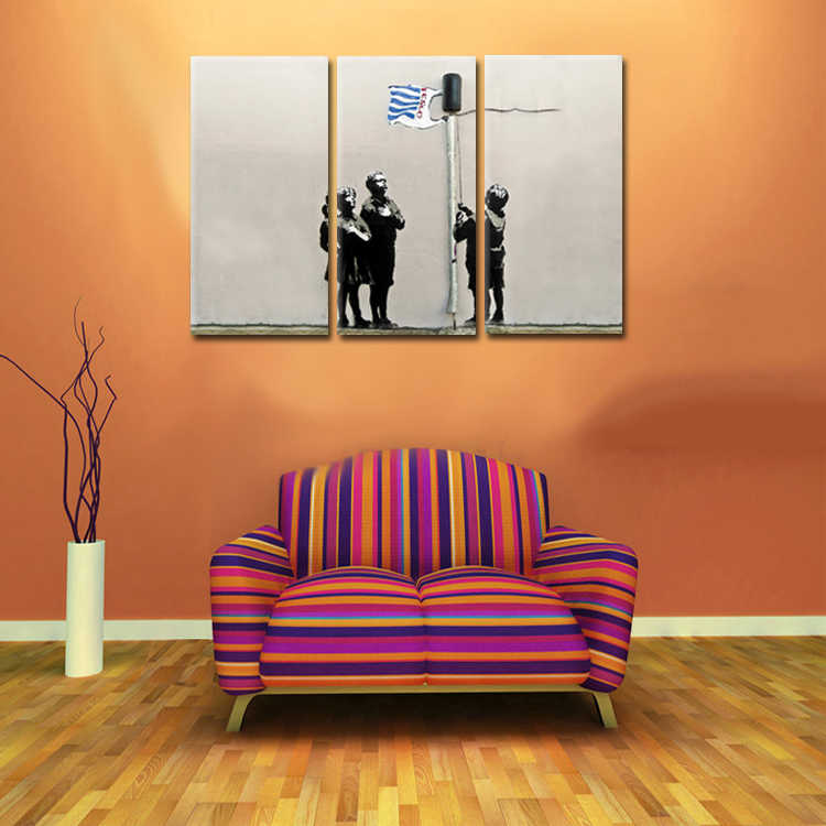 Wholesale 3 Pcs/Set Artist Canvas Abstract doodle poster Canvas Prints Wall Pictures for Living Room Picture/Abstract (100)