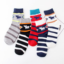 2019 Spring Men socks happy Elk jacquard Festival Mens cotton funny in spring and autumn