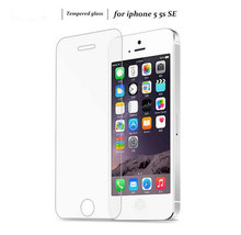 0.3mm tempered glass For iPhone 5 5S 5c SE HD screen protector protective front glass with free clean kits