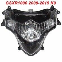 купить For 09-15 Suzuki GSXR1000 GSXR 1000 GSX-R 1000 K9 Motorcycle Front Headlight Head Light Lamp Headlamp CLEAR 2009 2010 2011-2015 по цене 11219.02 рублей