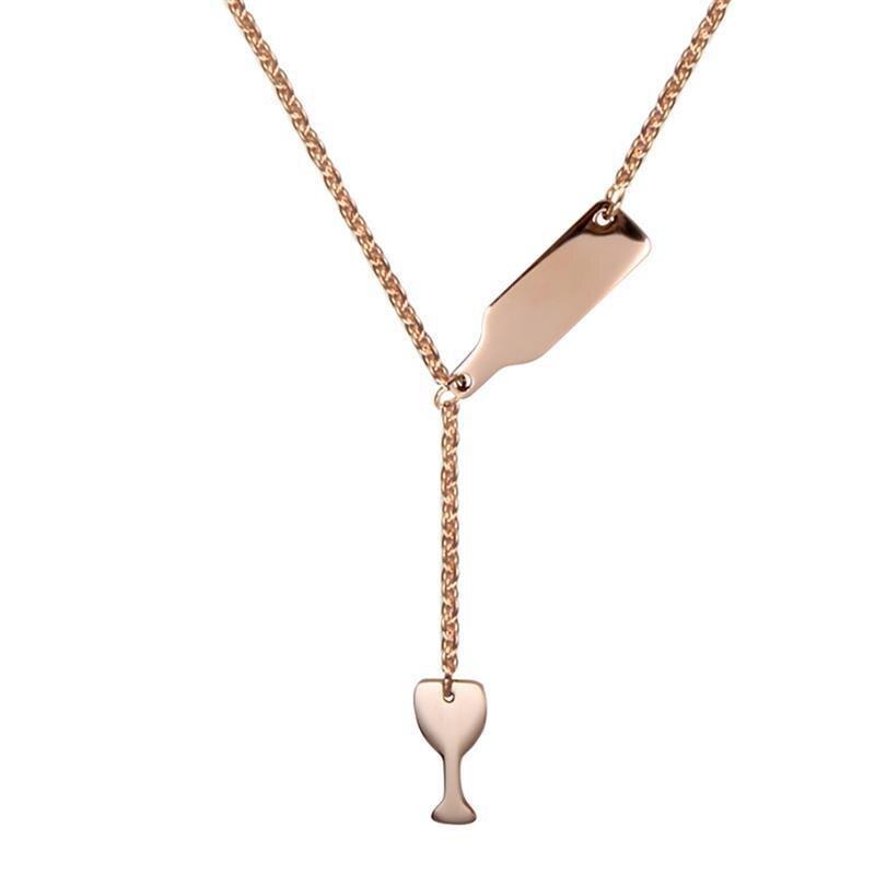 1Pcs Winebottle Necklace Wine Glass Pendant Necklace s
