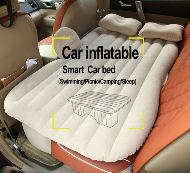 Universal SUV Car Travel Inflatable Mattress Inflatable car bed for back seat Bed Cushion floking DHL free shopping 3-7Day!!