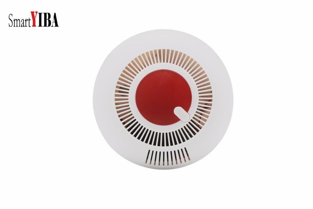 SmartYIBA Independent Smoke Detector Smoke Fire Alarm Smoke Sensor Photoelectric Smoke Alarm цена