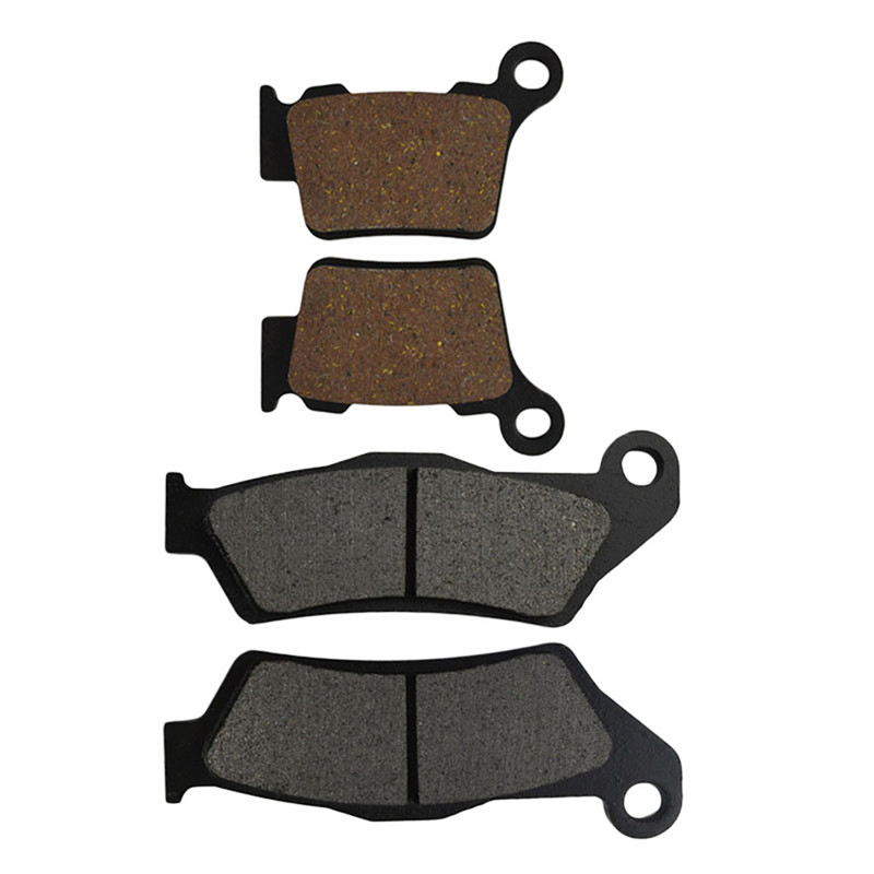 Motorcycle Front And Rear Brake Pads For KTM XC EXC 400 / 450 / 525 2004-2007 EXC 500 (12-16) Black Brake Disc Pad motorcycle front and rear brake pads for ktm exc r450 2008 sx f 450 usd 2003 2008 xc f xcr w 450 2008 black brake disc pad