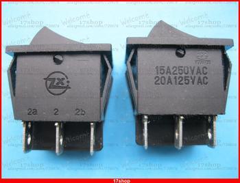 100 Black Rocker Switch ON-OFF DPDT 6 Terminal 15A/250V 20A/125V KCD3 without LED