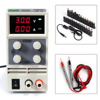 New 30V 5A Switch DC power supply Digital Display adjustable laboratory with probe pen 28PCS terminal