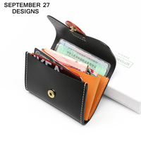 Coin Purses Genuine Leather Women Mini Change Purse Cowhide Vintage Credit Card Wallet Lady Small Wallet Female ID Holders Case
