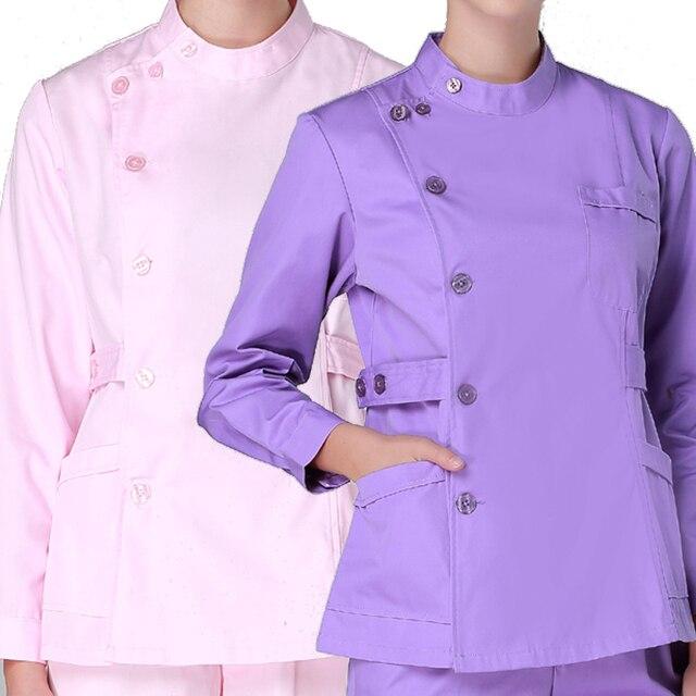 f67839c96fc Women's Fashion long sleeves Medical Scrubs tops / Nursing Uniforms ...