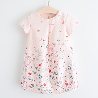 2016 New Style Summer Flower Dress Cotton A Line Short Sleeve Girls Costumes 2 7 Years