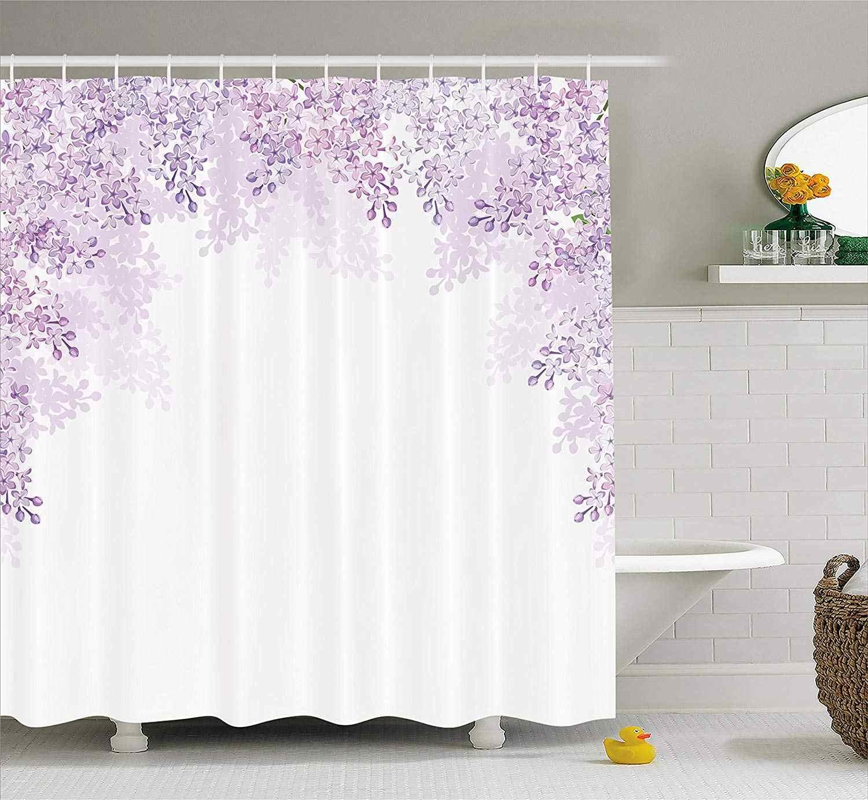 Цветок душ Шторы обрамление цветы сирени в Blossom весеннего сезона успокаивающий Цвет оттенков