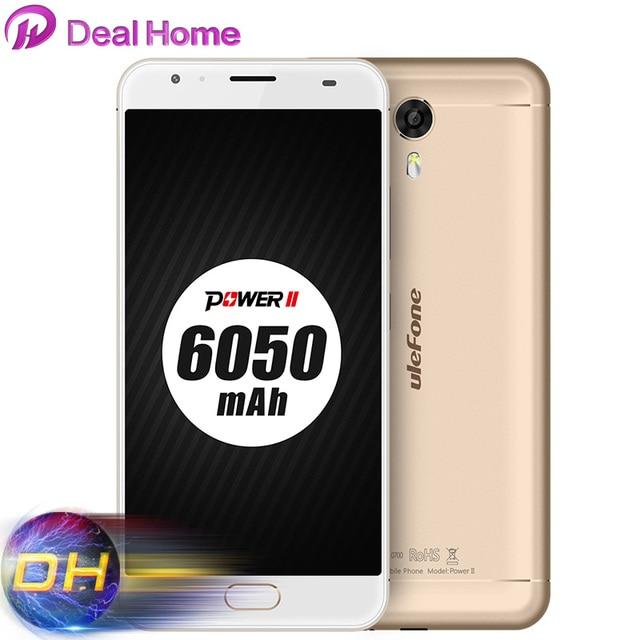 Free gift!6050mah Ulefone Power 2 4G LTE Full metal CellPhone MTK6750T Octa Core Fingerprint 4GB RAM 64GB ROM 13MP Mobile Phone