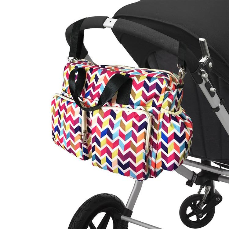 3pcs/set Multicolor Baby Nappy Bags Oxford Large Capacity Diaper Bag Mother Maternity Handbag Hobos Messenger Bags Stroller Bag