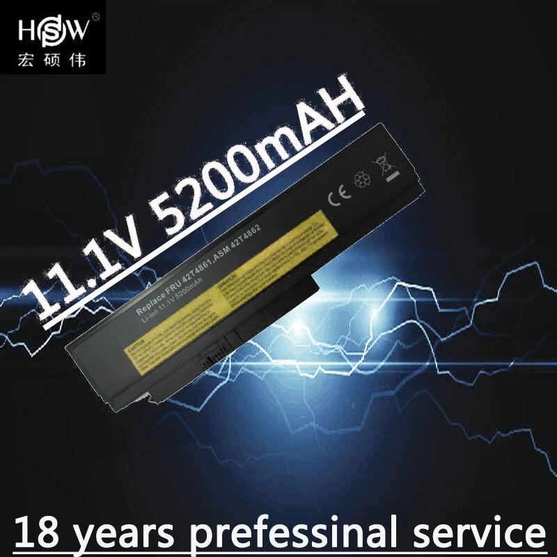 HSW batería del ordenador portátil para Lenovo ThinkPad X220 X220i X220s 0A36281 0A36282 0A36283 42T4861 42T4862 42T4863 42T4865 bateria akku