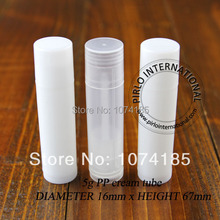 White 5ML Empty Lipstick Tube Clear Plastic Lip Balm Container Lip Gloss Containers Sample Lip Stick Container 100PCS/LOT