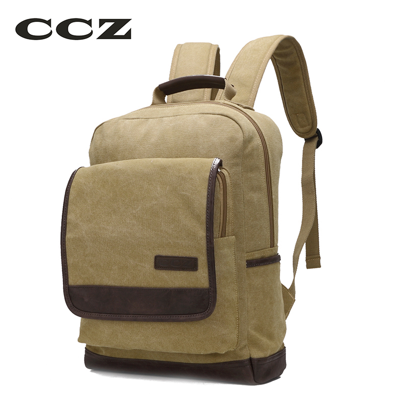 CCZ 2017 New Fashion Backpack For Men Canvas Backpacks Women Travel Bag Preppy Style Shoulders Bag 14 Laptop Bag BK8007 2017 new masked rider laptop backpack bags cosplay animg kamen rider shoulders school student bag travel men and women backpacks