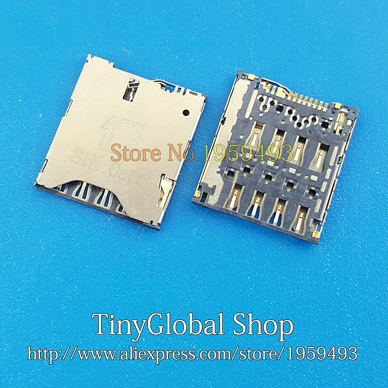 5pcs/lot XGE New SIM Card Reader Holder Socket Connector replacement for HTC ONE S Z520E 8S A620E A620D A620T A620 Z520 ONES