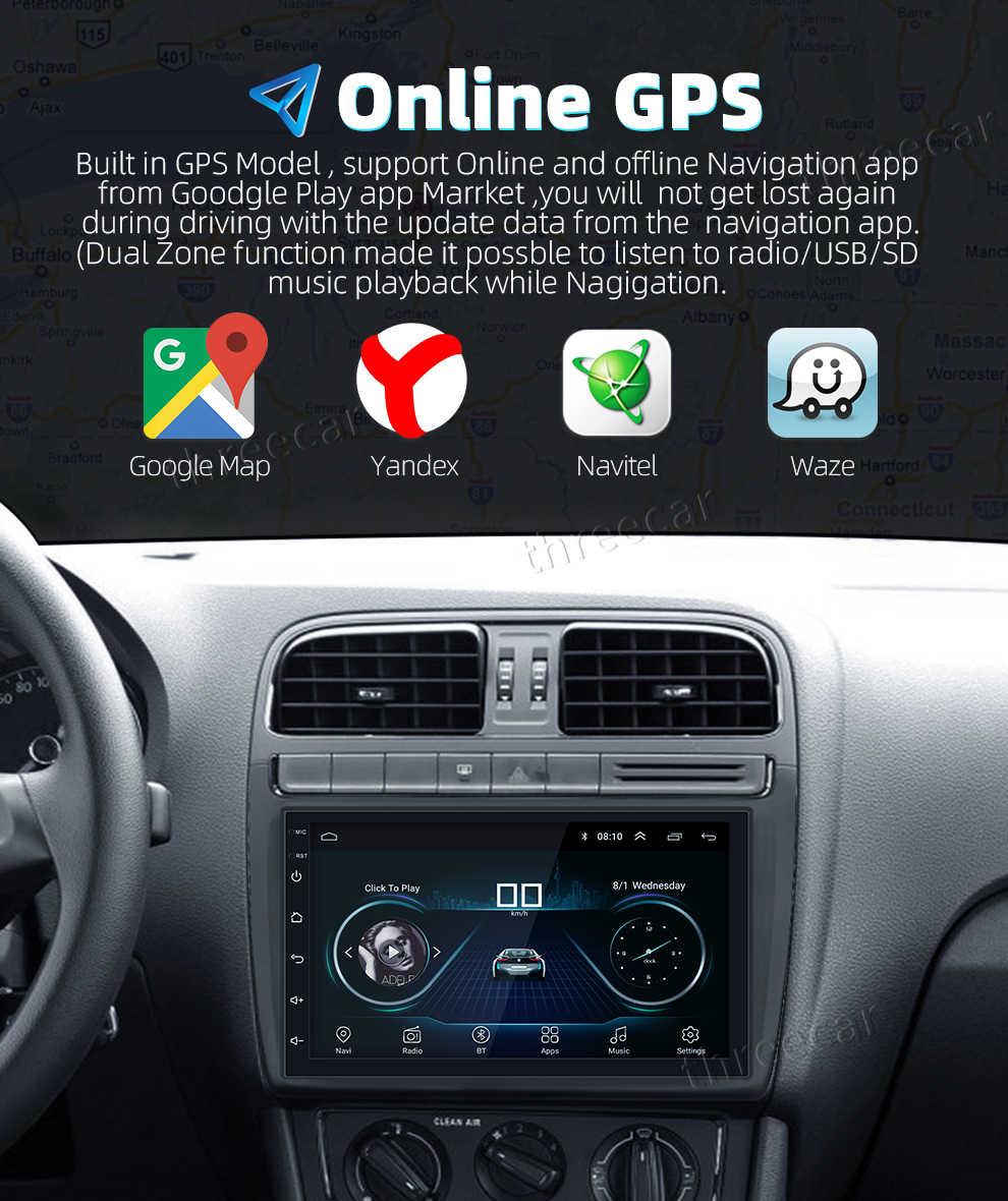 7 ''ユニバーサル GPS ナビゲーション Bluetooth 2 Din カーラジオの Android 8.1 無線 Lan カーオーディオステレオの FM USB MP5 車プレーヤー autoradio