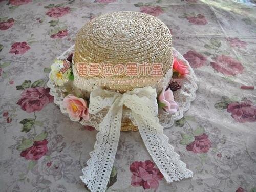 כפרי נסיכה מתוקה לוליטה יפני קמליה קטן קטן עלה יפה כובע קש כובע רשמי MSG MZ029
