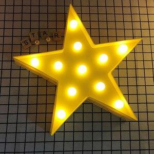 Image 4 - Promotie 3D Marquee Cloud Star Moon Led Nachtverlichting Baby Nursery Lampen Kinderen Slaapkamer Decor Kids Geschenken