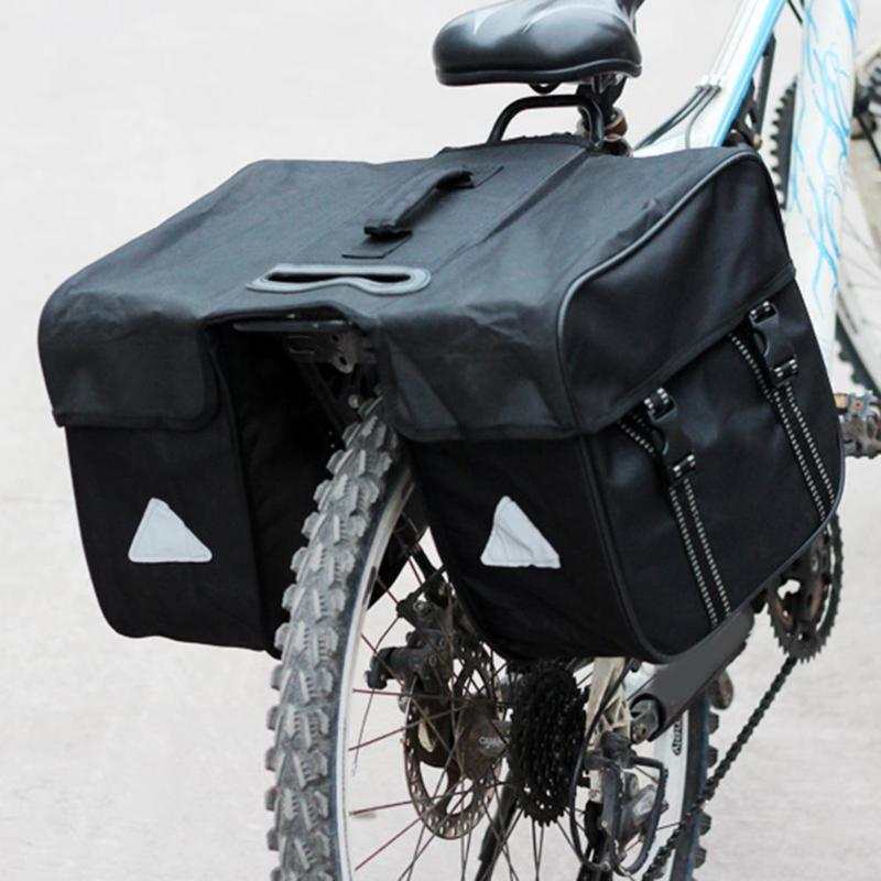 Waterproof Mountain Road Bicycle Bike Bag Cycling Double Side Rear Rack Tail Seat Trunk Bag Pannier road bike led saddle bag mtb mountain bicycle seat post bag cycling bicicleta waterproof seat tail pouch rear safe package