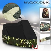 Mofaner 190T Universal Motorcycle Cover UV Protector Waterproof Rain Dustproof Anti Theft Motor Scooter Covers With