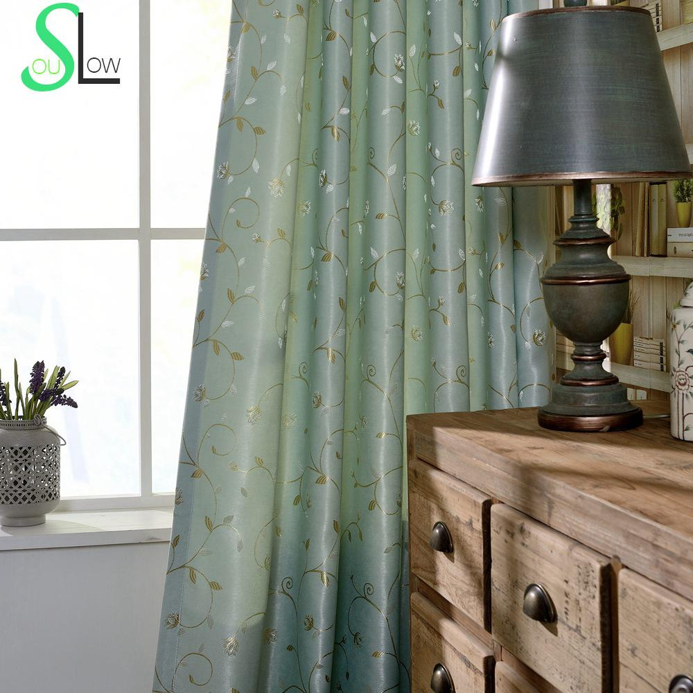 Cafe curtains for living room - Rattan Flower Jacquard Shade Curtain Blackout Floral French Curtains Cortina Bedroom Living Room Gardinen Kitchen Estores Rideau