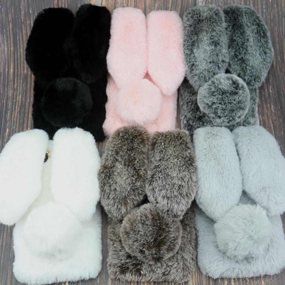 Rabbit Fur Case For Xiaomi Redmi 6 Pro S2 6A 5A 5 Plus 4X 4A 4 Note 7 6 5 Pro 5A Prime 4X 3 Y1 Redmi GO Silicone Warm Fur Covers