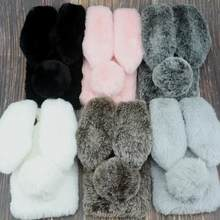 Rabbit Fur Case For Xiaomi Redmi 6 Pro S2 6A 5A 5 Plus 4X 4A 4 Note 7 6 5 Pro 5A Prime 4X 3 Y1 Redmi GO 8 8A 8T K30 Warm Covers(China)