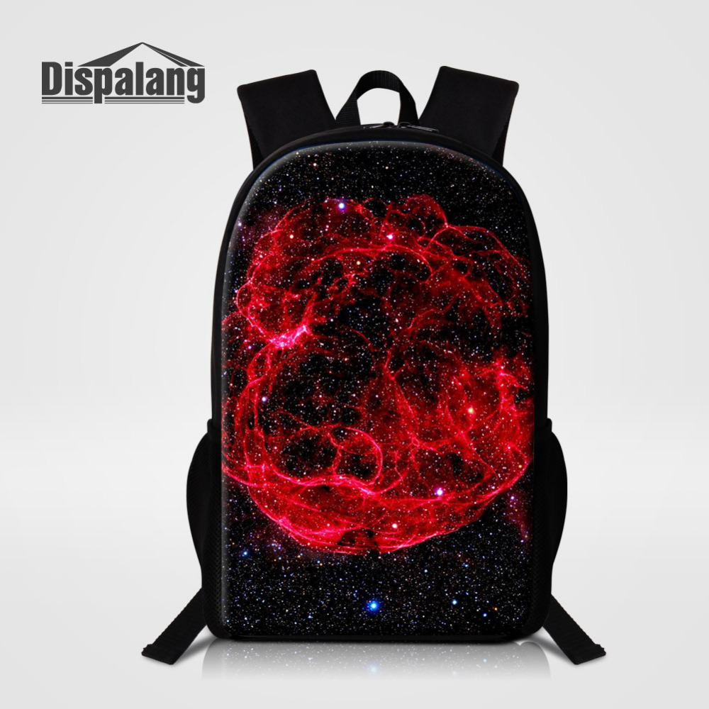Dispalang Brand Men Women Backpacks Universe Galaxy Large School Bags For Teenager Boy Girls Travel Backbag Mochila Rucksack