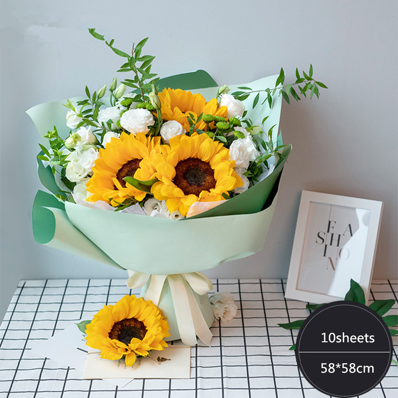 10pcs Fashion Korean Twin Color Flowers Packaging Materials Gift
