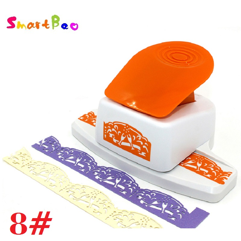 Large Border Punch Embossing Machines Puncher Scrapbooking Perfect for Handmade Cards; Craft Height about: 4cm/ 1.57inch transparent clear stamp diy silicone seals scrapbooking card for distinctive stamped to handmade cards craft pages