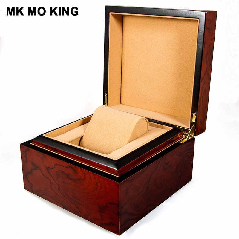 مجوهرات فاخرة ماركة هدية صندوق ل dw رولكس كارتييه تيسو أوميغا لونجين بانيراي IWC AP mk الرجال المرأة سوار ساعة صندوق خشبي