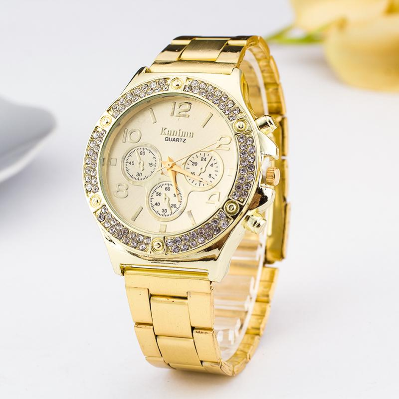 Relojes Relogio Dropshipping Feminino Hombre Luxury Brand Stainless Steel Watch Women Fashion Women Watches Golden Wristwatch