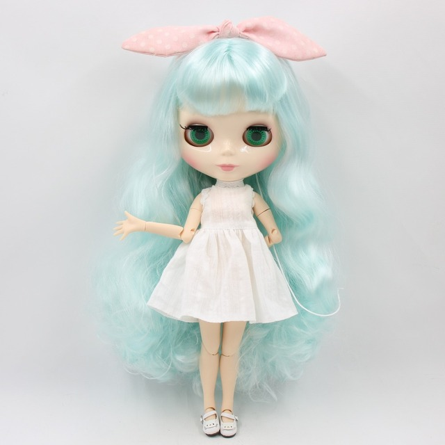 ICY Neo Blythe Dolls Pale Blue Hair Jointed Body