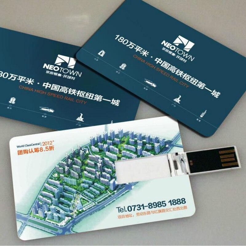 1G/2G/4G/8G/16G/32G/6GB USB Flash Drive Blank Memory Stick Custom Logo Printed Business Card 2.0 Usb Flash Drive Memory Stick