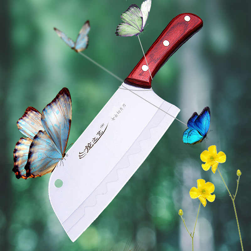 Free Shipping Liang Da Stainless Steel Household Kitchen Knives Handmade Professional Chef Cleaver Slicing Meat Vegetable Knife