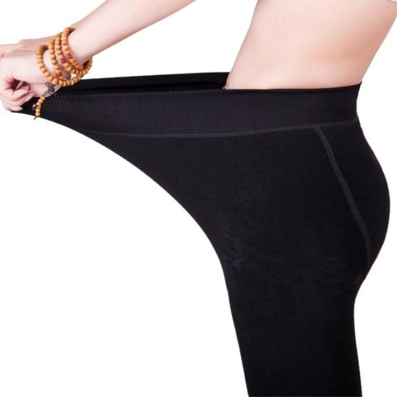 Image 3 - Winter Leggings Knitting Velvet Casual Legging New High Elastic Thicken Lady's Warm Black Pants Skinny Pants For Women Leggings-in Leggings from Women's Clothing