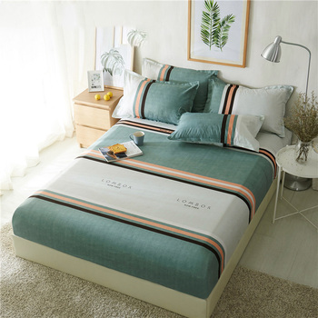 1pc Polyester Breathable Mattress Cover With Elastic Mattress