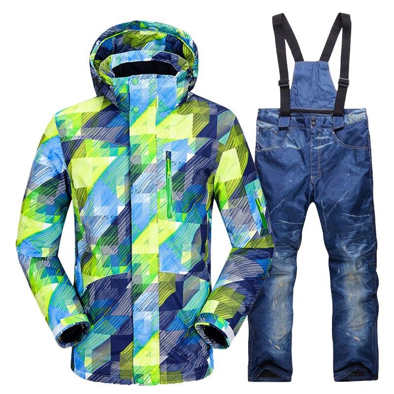 New Ski Suit Men Winter Warm Windproof Waterproof Outdoor Sports Snow Jackets And Pants Male Hot Ski Equipment Snowboard Jacket