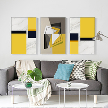 Bianche Wall Marble Pattern Geometric Abstract Decoration Canvas Painting Art Print Poster Picture Home