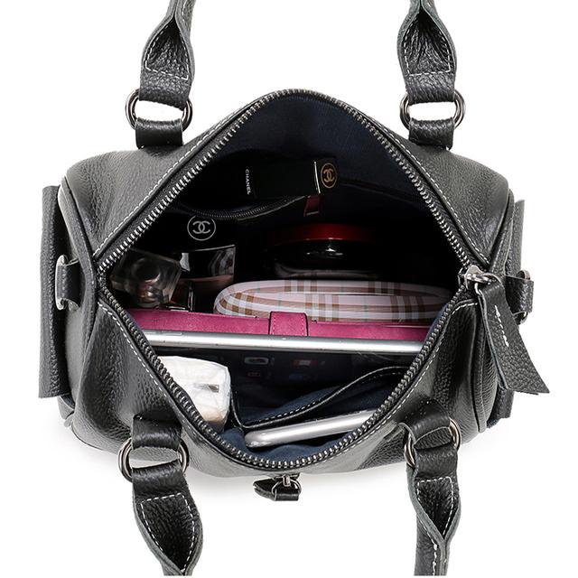 Nuleez  Genuine Leather handbag  Women Fashion Handbags Organizer Ladies Luxury Shoulder Crossbody Bags cool Soft Cowhide 1228