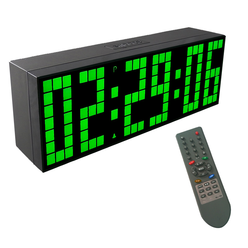 Kosda Digital Alarm Clock LED Mirror Clock Multifunction Snooze Display Time Night Led Light Table  Cable
