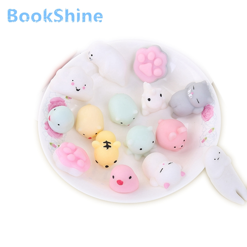 1/27 Antistress Ball Mini Squeeze Toys Squishy Cat Slow Rising Doll Stretchy Animal Healing Stress Hand Fidget Vent Toy Fun Gift lps pet shop toys rare black little cat blue eyes animal models patrulla canina action figures kids toys gift cat free shipping