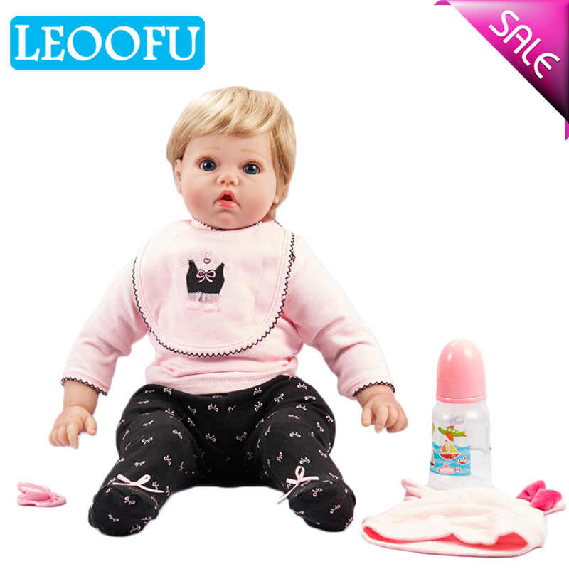 LEOOFU 50cm 20 inch bebe reborn doll soft silicone reborn baby dolls baby toy christmas gifts surprice play house toys baby gift