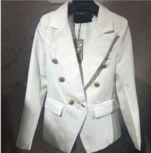 2017 high quality new fashion hot women blazer and jackets wall Era feminino size S, M, L in white green black 3 colors 7