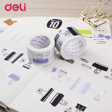 Deli 30mm*7m Cute japanese Masking Washi Tapes Decorative Adhesive scotch Tape DIY Scrapbooking Sticker Label school Stationery